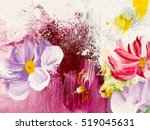 abstract flowers  close up... | Shutterstock . vector #519045631