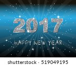 happy new year 2017. vector... | Shutterstock .eps vector #519049195
