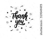 thank you. trendy hand... | Shutterstock .eps vector #519049495
