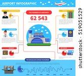 work of airport infographic... | Shutterstock . vector #519051529