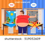 obesity design composition with ... | Shutterstock . vector #519052609