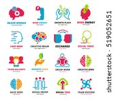 logo set of social relationship ... | Shutterstock . vector #519052651