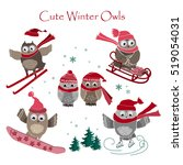 Cute Winter Owls Collection....
