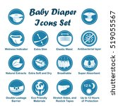 diaper characteristics icons.... | Shutterstock .eps vector #519055567