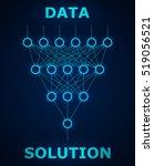 neural net. neuron network.... | Shutterstock .eps vector #519056521