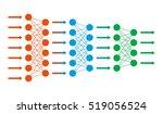 neural net. neuron network.... | Shutterstock .eps vector #519056524