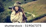 woman photography camera nature ... | Shutterstock . vector #519067375