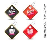 vector black friday sales tag... | Shutterstock .eps vector #519067489