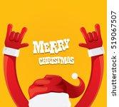 santa claus hand rock n roll... | Shutterstock .eps vector #519067507