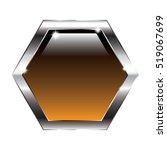 Abstract Brown Hexagon...