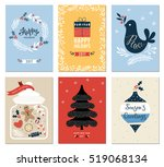 merry christmas and happy... | Shutterstock .eps vector #519068134