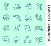 data analysis icons  thin line  ... | Shutterstock .eps vector #519072955