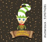 vector cartoon cute merry... | Shutterstock .eps vector #519074281