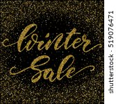 winter sale   ink freehand... | Shutterstock .eps vector #519076471