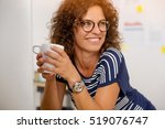 portrait of a middle aged woman ... | Shutterstock . vector #519076747