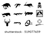 vector set of poaching and... | Shutterstock .eps vector #519077659