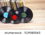 vinyl record in front of a... | Shutterstock . vector #519080065