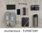 flat lay of objects for... | Shutterstock . vector #519087289