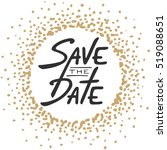 save the date invite greeting... | Shutterstock .eps vector #519088651