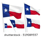 Usa Texas Vector Flags. A Set...