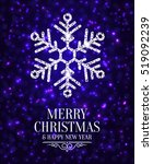 elegant christmas card with... | Shutterstock .eps vector #519092239