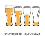 set of beer glasses with light... | Shutterstock .eps vector #519096625