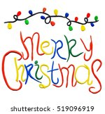 merry christmas text made by... | Shutterstock . vector #519096919