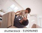 cheerful young boy having fun... | Shutterstock . vector #519096985