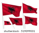 albania vector flags set. 5... | Shutterstock .eps vector #519099031