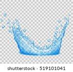 translucent water splash in... | Shutterstock .eps vector #519101041