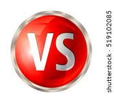 vs letters button. versus logo... | Shutterstock .eps vector #519102085