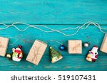 christmas or new year presents... | Shutterstock . vector #519107431