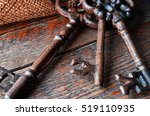 a close up image of three... | Shutterstock . vector #519110935