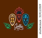 logo for the coffee shop with a ... | Shutterstock .eps vector #519113509