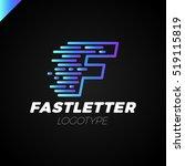 abstract letter f logo design...   Shutterstock .eps vector #519115819