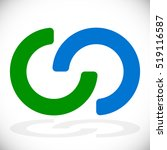interlocking circles ... | Shutterstock .eps vector #519116587