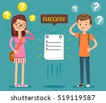 students are questioning the... | Shutterstock .eps vector #519119587