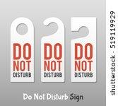 Do Not Disturb Sign. Hotel Doo...