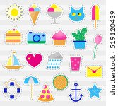 collection of flat neon pop art ... | Shutterstock .eps vector #519120439