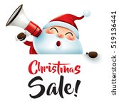 christmas sale  santa claus... | Shutterstock .eps vector #519136441