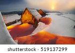 blizzard covered alpine fields... | Shutterstock . vector #519137299