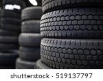 tires for sale at a tire store  ... | Shutterstock . vector #519137797