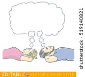 young happy couple dreaming... | Shutterstock .eps vector #519140821
