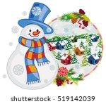 holiday label with happy... | Shutterstock .eps vector #519142039