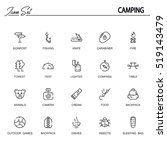 camping flat icon set.... | Shutterstock .eps vector #519143479