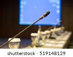 microphone at the conference... | Shutterstock . vector #519148129