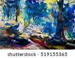 Watercolor Landscape Original ...