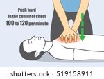 hand push hard and fast in the... | Shutterstock .eps vector #519158911
