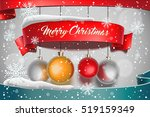 merry christmas. banner on... | Shutterstock .eps vector #519159349