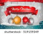merry christmas. banner on... | Shutterstock .eps vector #519159349